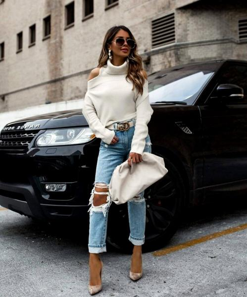 Как носить свитер весной. 5 стильных образов