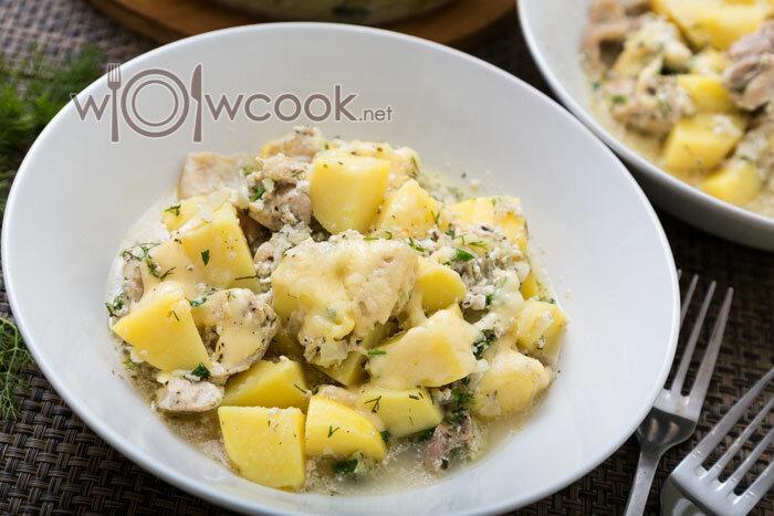 """Курица с картошкой """"по-быстрому"""" в духовке, вкусно и сытно"""