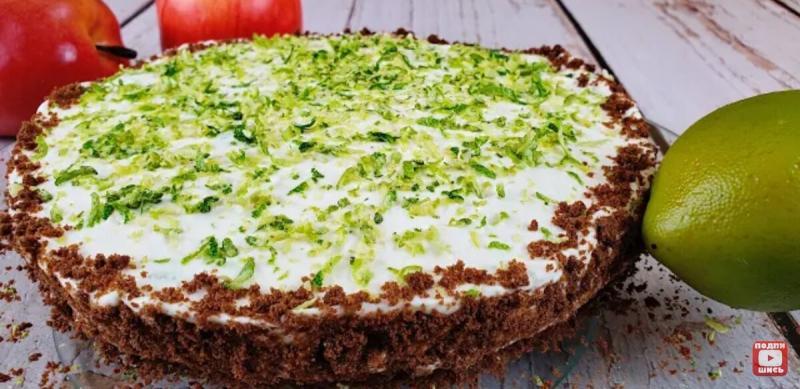 """""""Лаймик"""". Творожный торт без выпечки."""