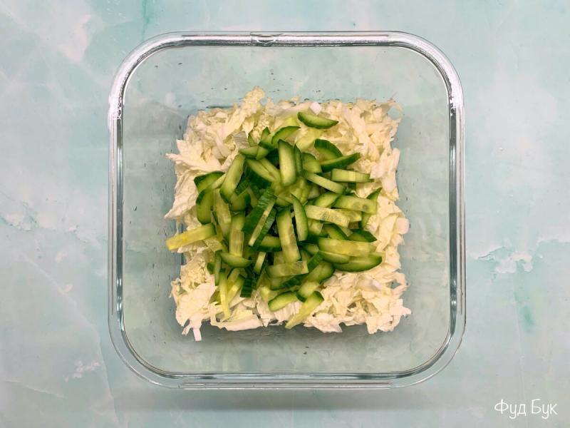ПП салат с кальмаром и яйцом