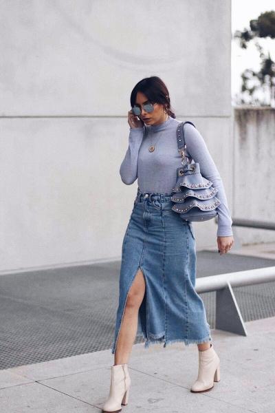 Джинсовая юбка - тренд этого сезона! Стильные идеи для образов