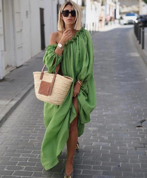 Как носить модные длинные платья летом. 5 стильных образов