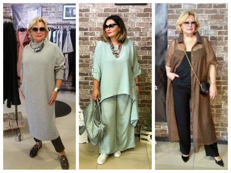 Комплект из кардигана и брюк для зрелых дам: 4 варианта
