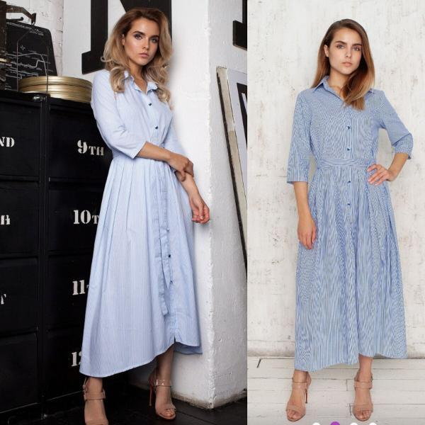 Однотонные платья на весну 2020