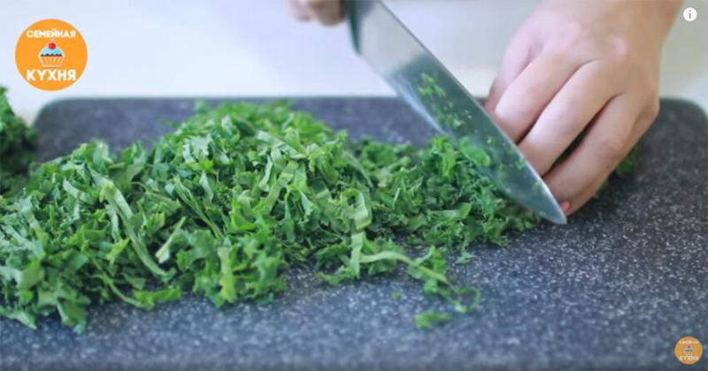 """Салат """"ВИТАМИННОЕ ЧУДО"""". Постный рецепт салата с капустой """"Кейл""""."""