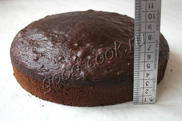 шоколадный бисквит на твороге