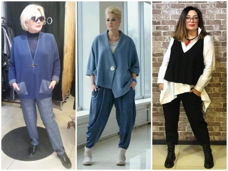 Жилет в стиле Бохо для полных: 3 модных образа на каждый день