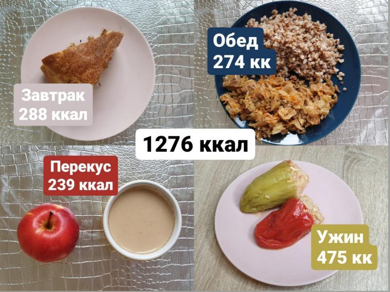 1200 калорий на день. Моё меню для похудения