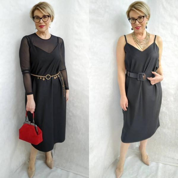14 стильных образов с платьем-комбинацией: от офисных до спортивных