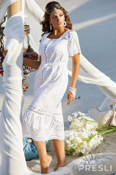 Белые платья для полных женщин от 30+ до 65+