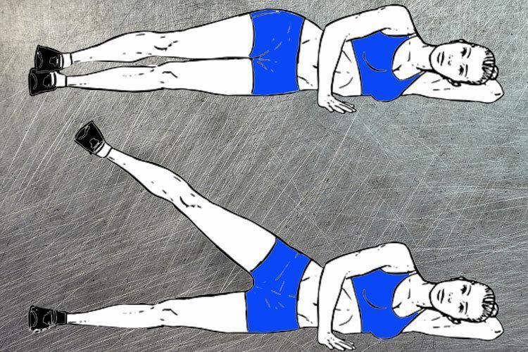 Два лучших жиросжигающих упражнения для зоны галифе
