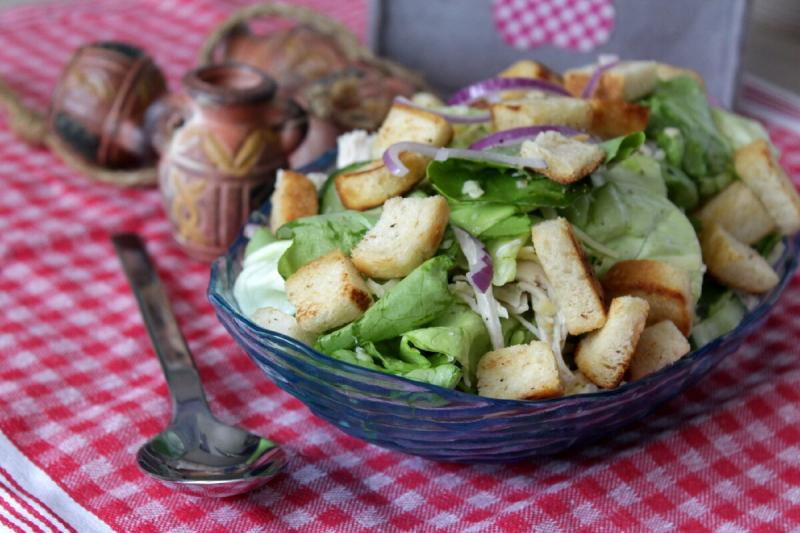 Хрустящий салат. Я в него влюбилась.