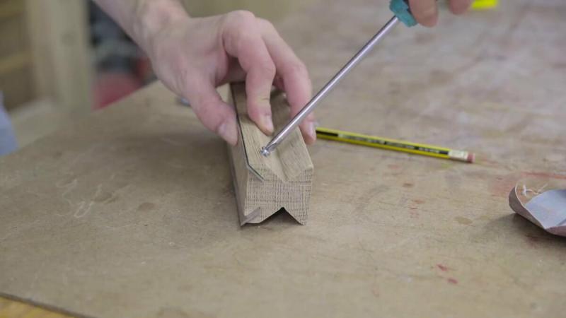 Как сделать приспосбление для заточки ножей фуганка