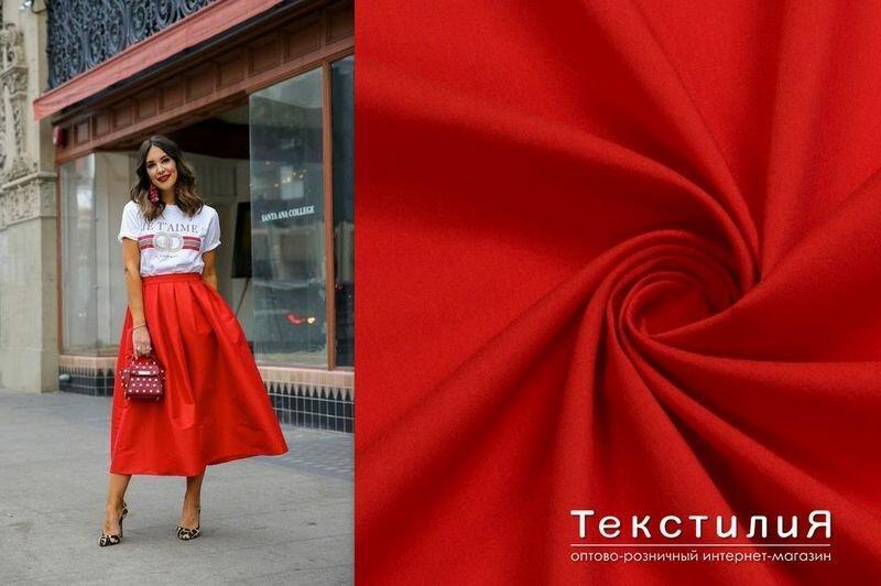 Красная юбка - модный хит весны!