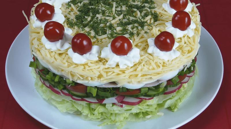 Овощной торт-салат