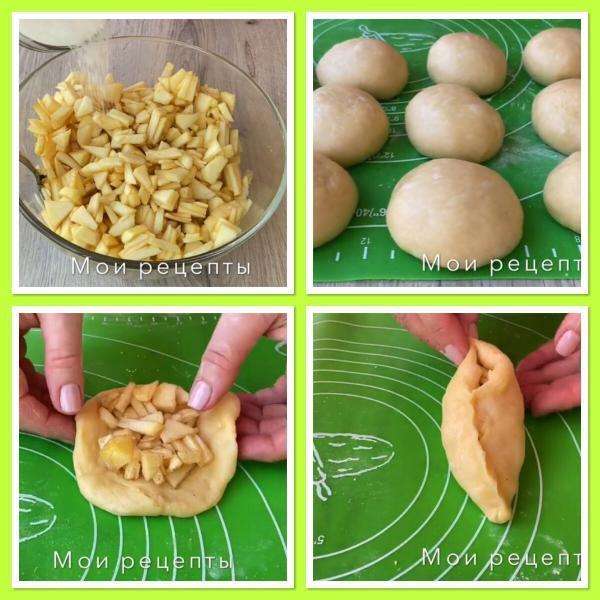 Пирожки с яблоками, которые долго не черствеют.