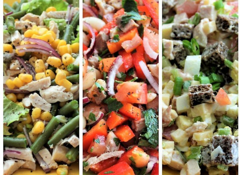 Три оригинальных салата. Хоть на праздник, хоть на каждый день