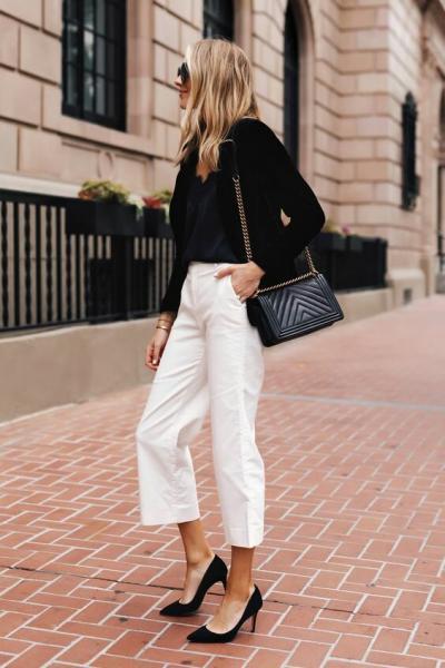Белые брюки: 15 образов чтобы выглядеть роскошно