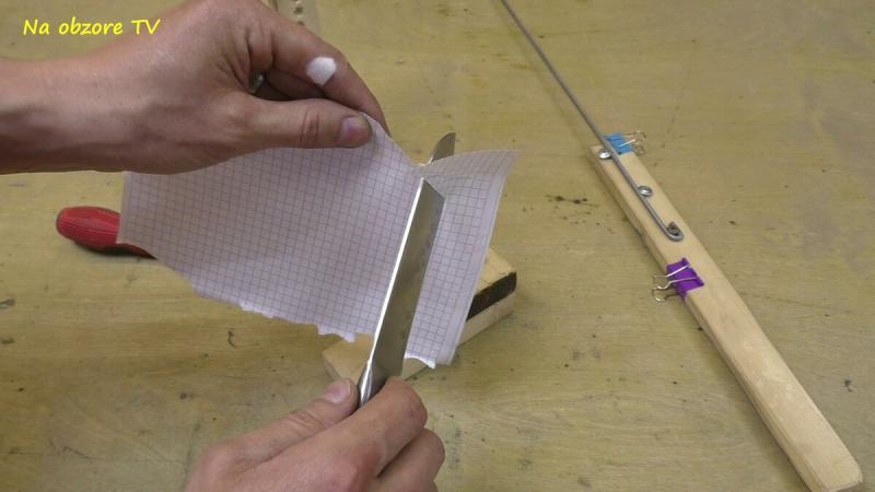 Как сделать самую простую точилку для ножей своими руками?