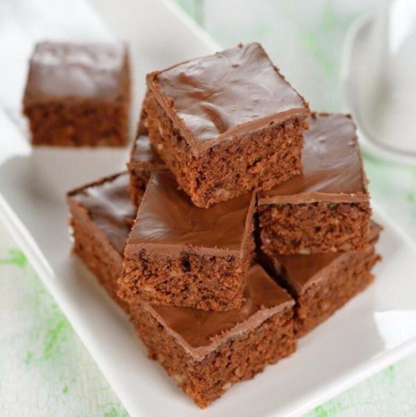 Простое шоколадное пирожное