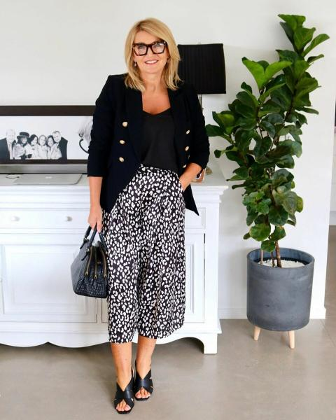 Стильные летние образы для дам 50+ от австралийской модницы