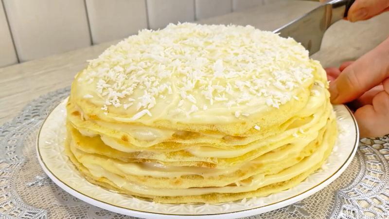 """Торт """"Необыкновенный Кутузов"""" - без духовки, без скалки, без блинов."""