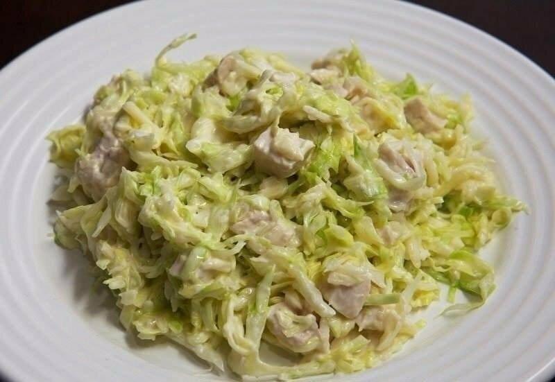 Вечерний белковый салат для сушки тела от жировых отложений