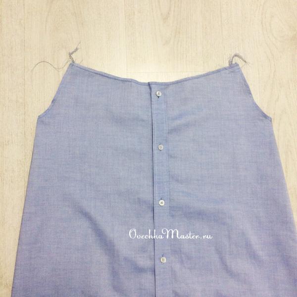 Вторая жизнь мужской рубашки. Делаю летнее платье
