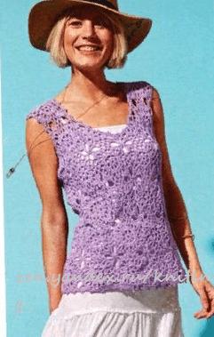 Женские модели летней одежды связанные крючком