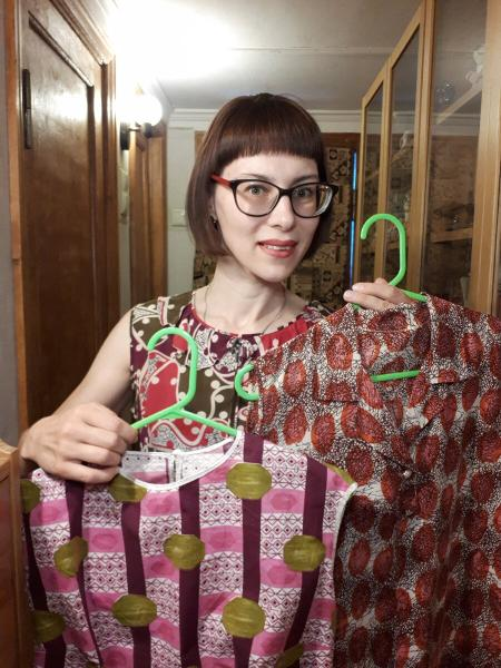 Безумные принты на лаконичных платьях 1960-х - 1970-х годов