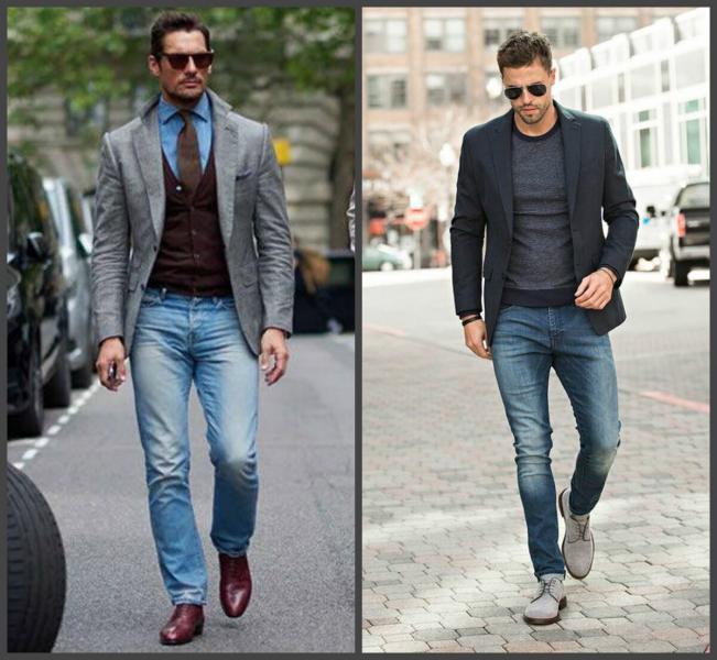 Классика мужского гардероба: джинсы и пиджак
