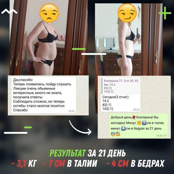 Промежуточные результаты программы по снижению веса