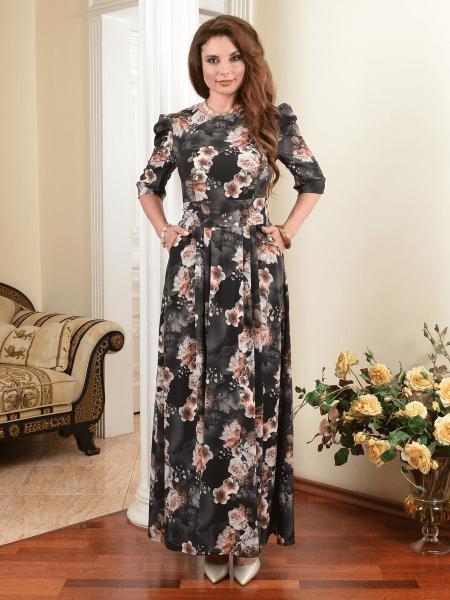 Обзор платьев длиной макси и миди - размер 50 плюс.