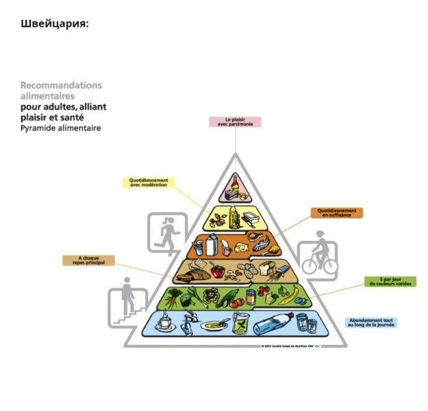 Рекомендации по питанию в разных странах