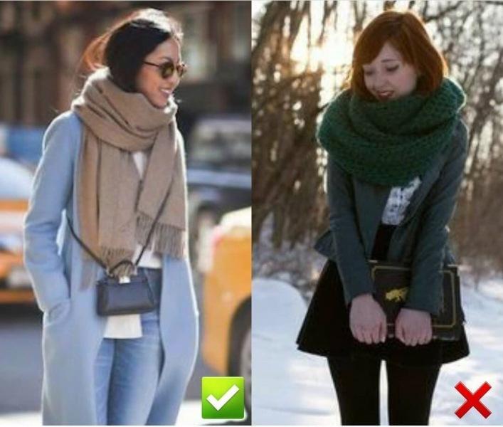 7 подсказок, как носить шарф с верхней одеждой 🧣