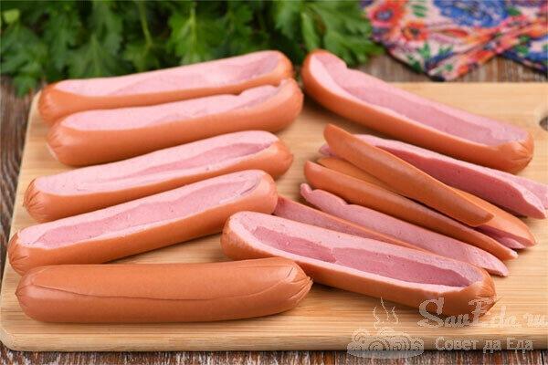 Фаршированные сосиски (рецепт с фото)