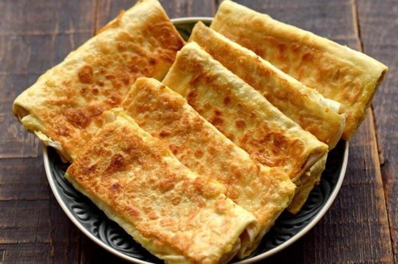Рулеты из лаваша с сыром
