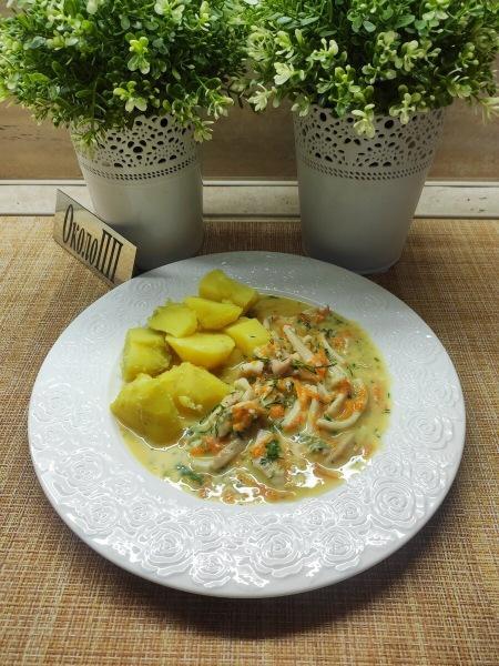 Кальмары в белом соусе - блюдо из моего меню стройности.