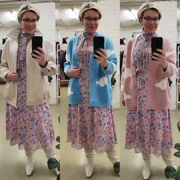 17 женственных образов (платья + верхний слой)