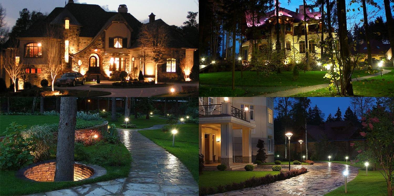 Светодиодные светильники в ландшафтном дизайне: яркий ночной мир