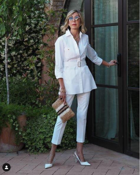 10 стильных образов от модных модниц 50+