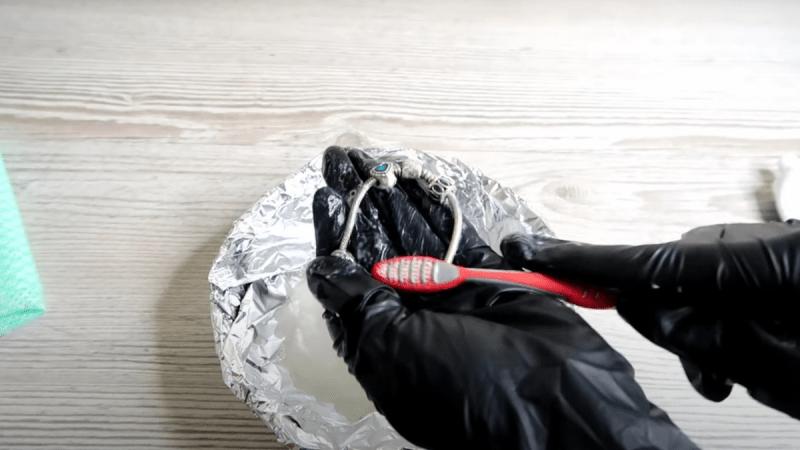 Очищаю серебро от тьмы содой