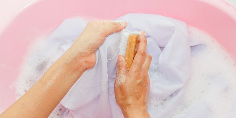 Как чистить занавески для душа